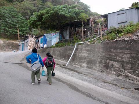 富山部落,災後小孩課輔