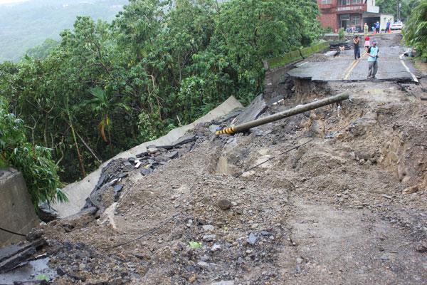 屏南邊緣四林村,遭南瑪督颱風重創