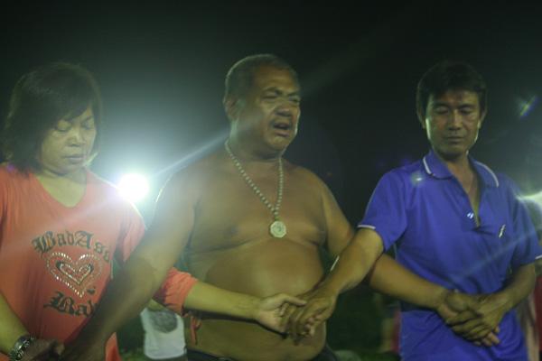 小林村夜祭練習,太祖指示:「你們都來了,我很歡喜。」