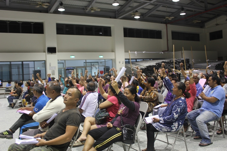 三村共組新來義部落,住民大會討論公共事務