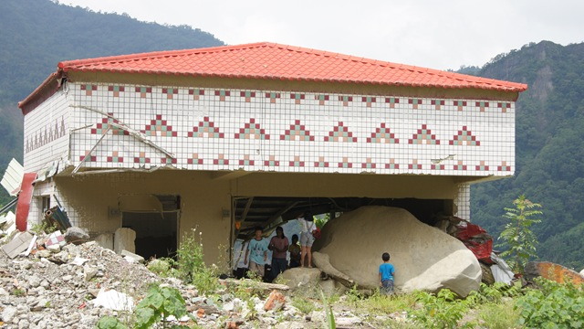 進入那瑪夏的第一指標,南沙魯受災建物規劃為紀念公園