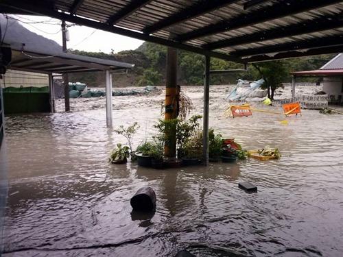 今天桃源復興部落再度被水沖進村莊,淹掉三間房子,族人Jhih Ciou HU拍攝